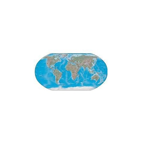 Sticker mural Carte du Monde 32x16cm réf 521