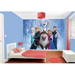 Papier peint enfant géant Frozen La reine des neiges