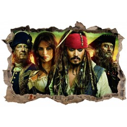 Stickers 3D Pirates des caraibes réf 23816