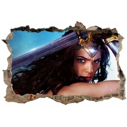 Stickers 3D Wonder Woman réf 23825