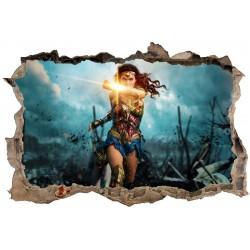 Stickers 3D Wonder Woman réf 23827
