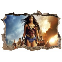 Stickers 3D Wonder Woman réf 23828