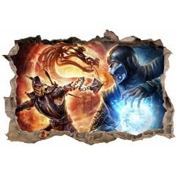 Stickers 3D Mortal Kombat réf 23830