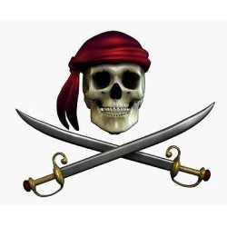 Sticker mural Pirate 30x25cm