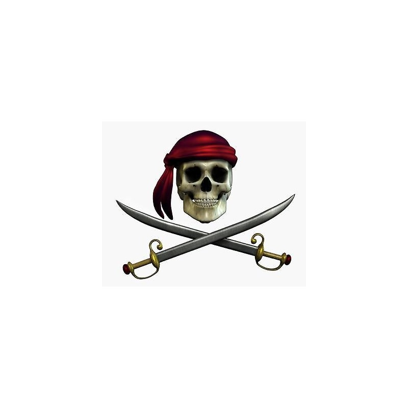 Sticker mural pirate 30x25cm stickers muraux enfant for Porte bijoux mural pas cher