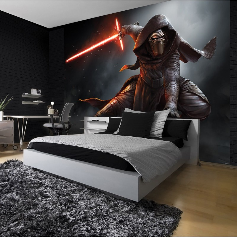 papier peint enfant g ant star wars kylo ren stickers muraux enfant. Black Bedroom Furniture Sets. Home Design Ideas