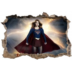 Stickers 3D Super Girl réf 52465