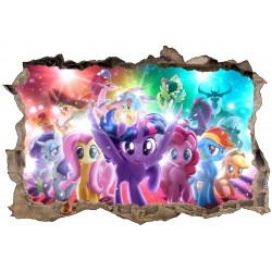 Stickers 3D My little pony réf 52467