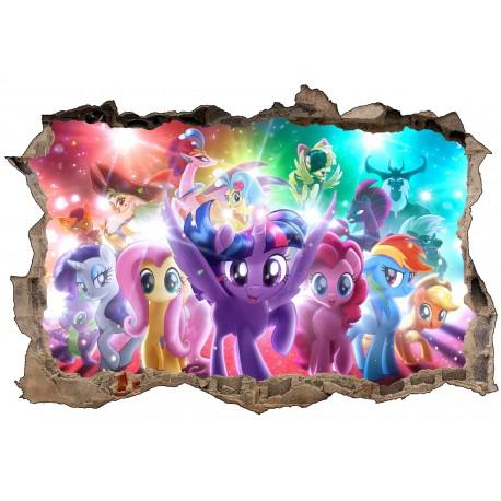 Stickers 3d My Little Pony Réf 52467 Stickers Muraux Enfant