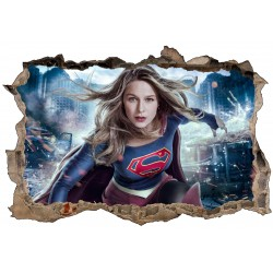 Stickers 3D Supergirl réf 52473