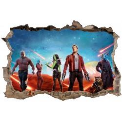 Stickers 3D Les Gardiens de la Galaxie réf 52475