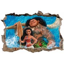 Stickers 3D Vaiana réf 52482