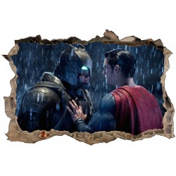 Stickers 3D Batman Superman réf 52488