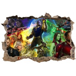 Stickers 3D Avengers Infinity réf 52496