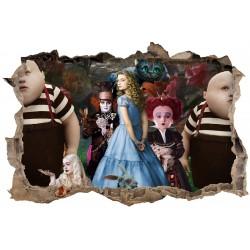 Stickers 3D Alice au pays des Merveilles réf 52497