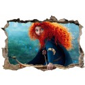 Stickers 3D Rebelle Princesse Merida réf 52504