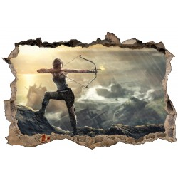 Stickers 3D Tomb Raider Lara Croft réf 52505