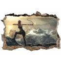 Stickers 3D Tomb Raider Lara Croft réf 52505