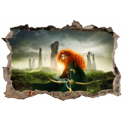 Stickers 3D Rebelle Princesse Merida réf 52510