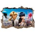 Stickers 3D Miraculous Ladybug Et Chat Noir réf 52511