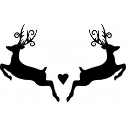 Stickers animaux Cerfs