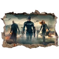 Stickers 3D Captain America ref 9516