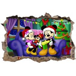 Stickers 3D Mickey et Minnie a Noël ref 4610