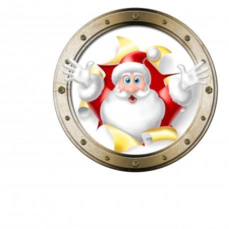 Stickers hublot Père Noël ref 4612