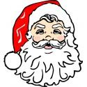 Sticker Tête du Père Noël ref 4609