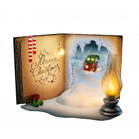 Sticker Livre de Noël avec Neige ref 4611