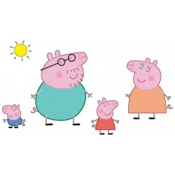 Stickers Pepa Pig et sa Famille ref 4643