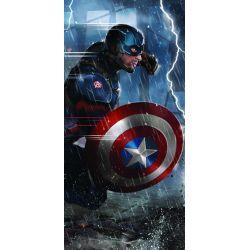 Stickers ou papier peint lé unique Captain America