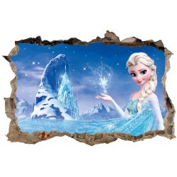 Stickers 3D La reine des neiges