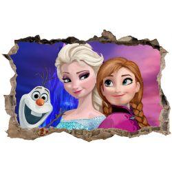 Stickers 3D La reine des neiges