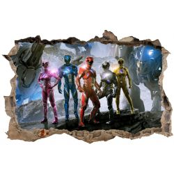 Stickers 3D Powers Rangers