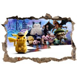 Stickers 3D Pokemon Pikachu