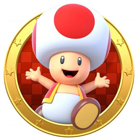 Sticker hublot Mario Toad
