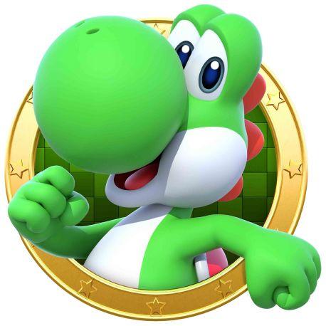 Sticker hublot Mario Yoshi