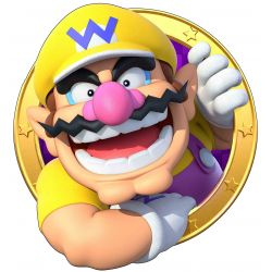 Sticker hublot Mario Wario