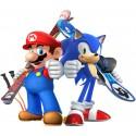 Stickers Mario Sonic font du ski
