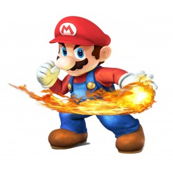Stickers Mario Boule de feu