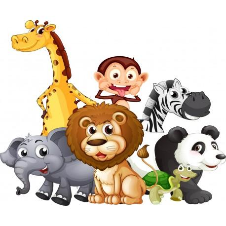 Stickers animaux de la jungle