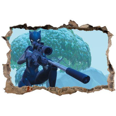 Stickers Fortnite 3D trompe l'oeil Catwoman