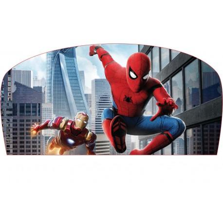 Stickers tête de lit chambre d'enfant Spiderman-Iron Man