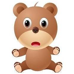 Sticker enfant bébé Ourson hauteur 30cm réf 043