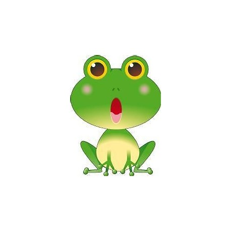 Sticker enfant bébé Grenouille hauteur 30cm réf 051