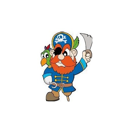Sticker enfant Pirate hauteur 30cm E657