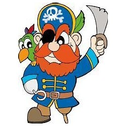 Sticker enfant Pirate hauteur 100cm E657