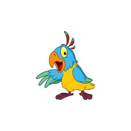 Sticker enfant Perroquet hauteur 30cm réf 202