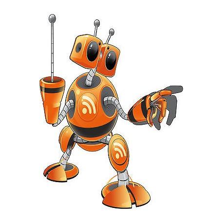 Sticker enfant Robot hauteur 30cm E652